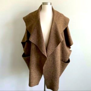 Anthropologie/ Roffe : Brown Over Sized Cardigan